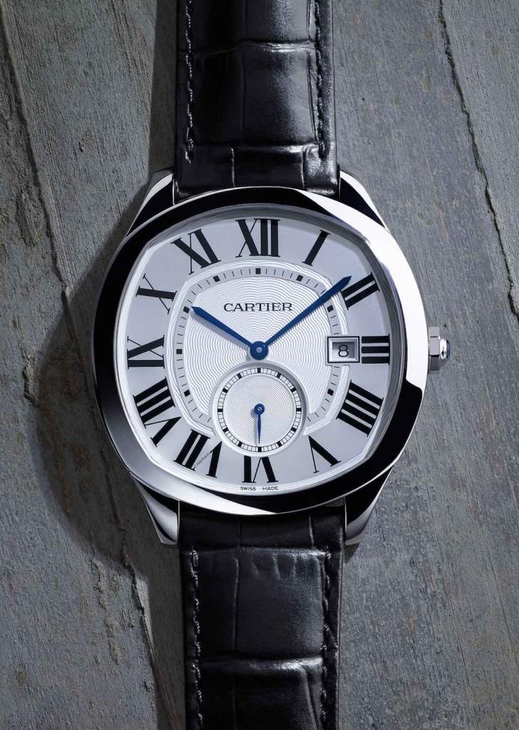Drive de Cartier, orologio maschile, cassa in acciaio, calibro1904-PS MC