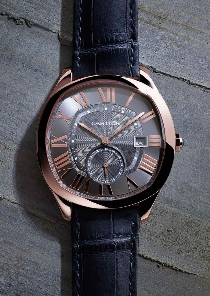 Drive de Cartier, orologio maschile, cassa in oro rosa, calibro1904-PS MC