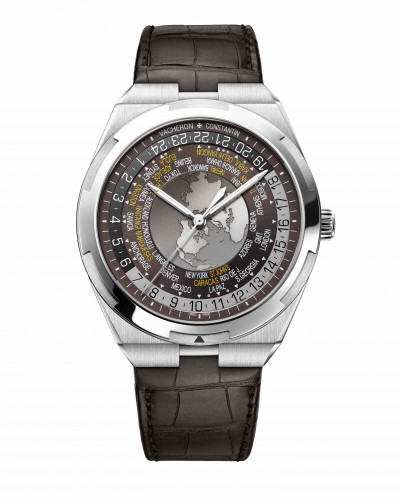 World Time Overseas marron 7700V-110A-B176 bracelet cuir