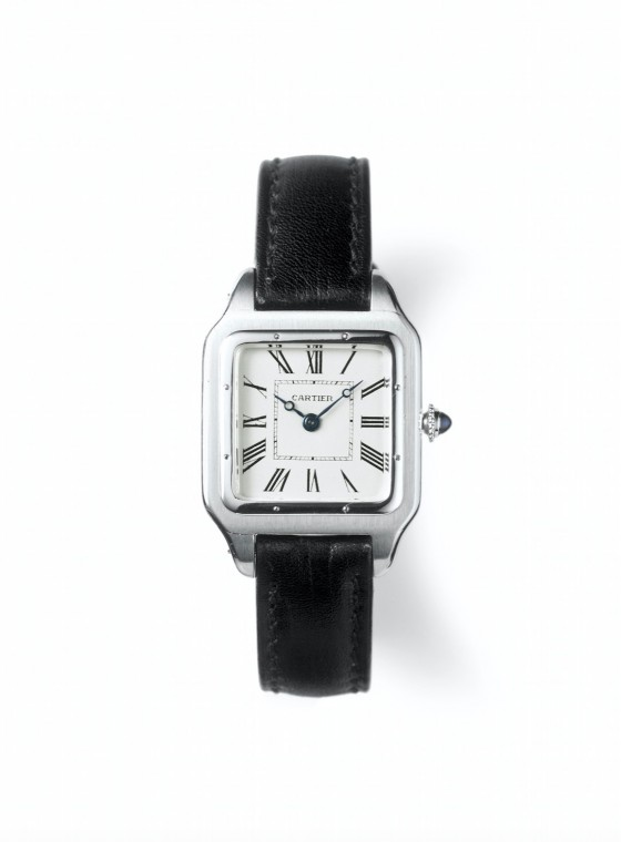 Santos, Cartier Paris, orologio storico del 1916  Platinum, gold, sapphire, leather strap