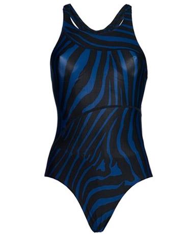 Costume Intero zebrato blu e nero stilista Stella McCartney
