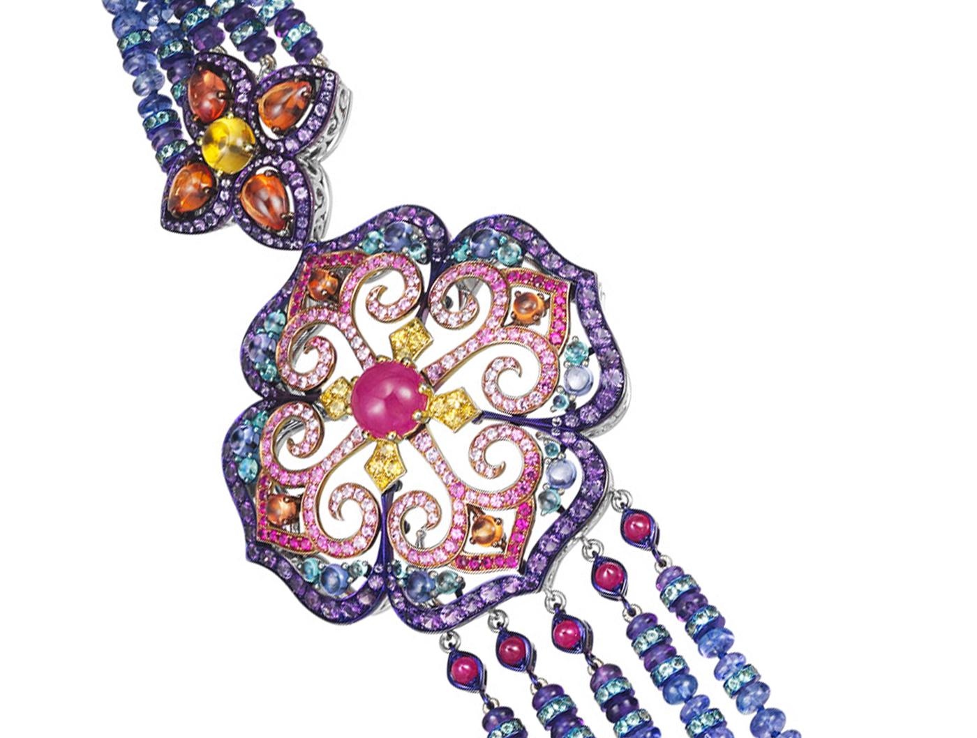 Alta gioielleria - gancio floreale collana chopard