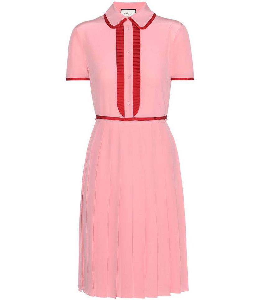 Plissè - abito rosa Gucci