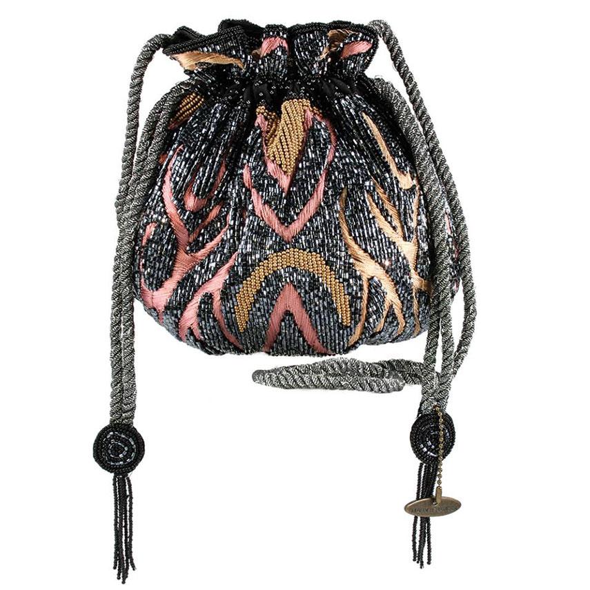 The Ducker - Mary Frances Tiger Tavern Handbag
