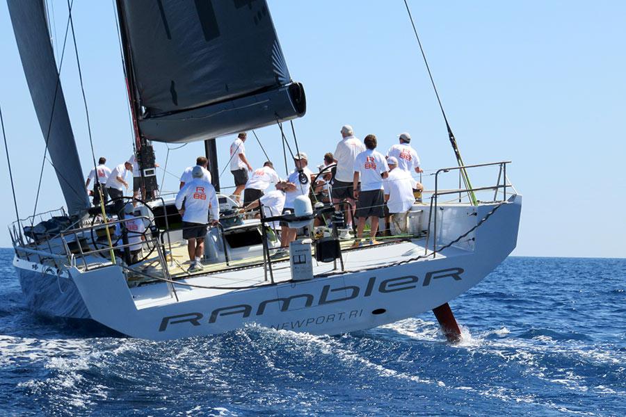 Palermo Montecarlo - la vittoria di Rambler alla regata velica - l'equipaggio durante la regata