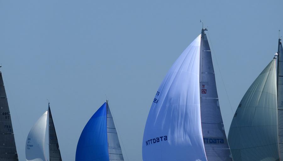 Palermo Montecarlo - la vittoria di Rambler alla regata velica - foto evocativa delle vele