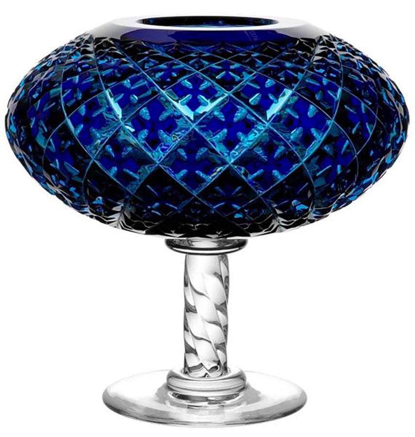 Crystal Saint Louis - coppa blu pantografata