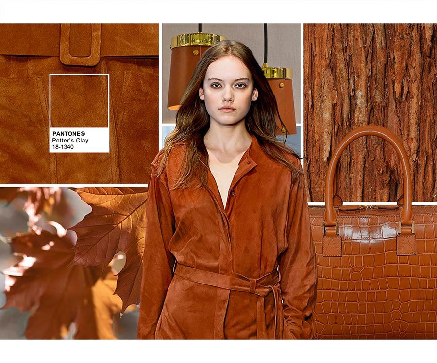 colori moda 2016 - colore pantone Potter's Clay - filati e modella