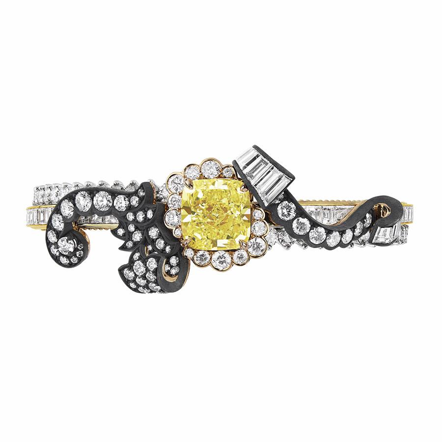 Victoire de Castellane per Dior - BOISERIE DIAMANT JAUNE BRACELET, 750_1000 yellow gold, 950_1000 platinum, 750_1000 pink gold, darkened silver, diamonds and yellow diamond