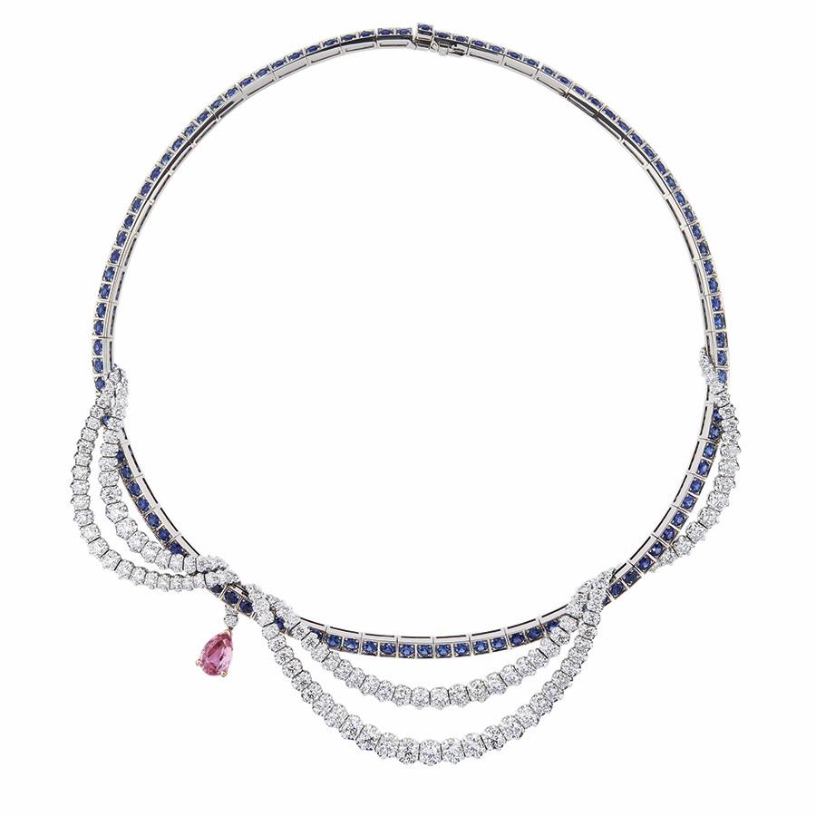 Victoire de Castellane per Dior - GUIRLANDE SAPHIR ROSE NECKLACE