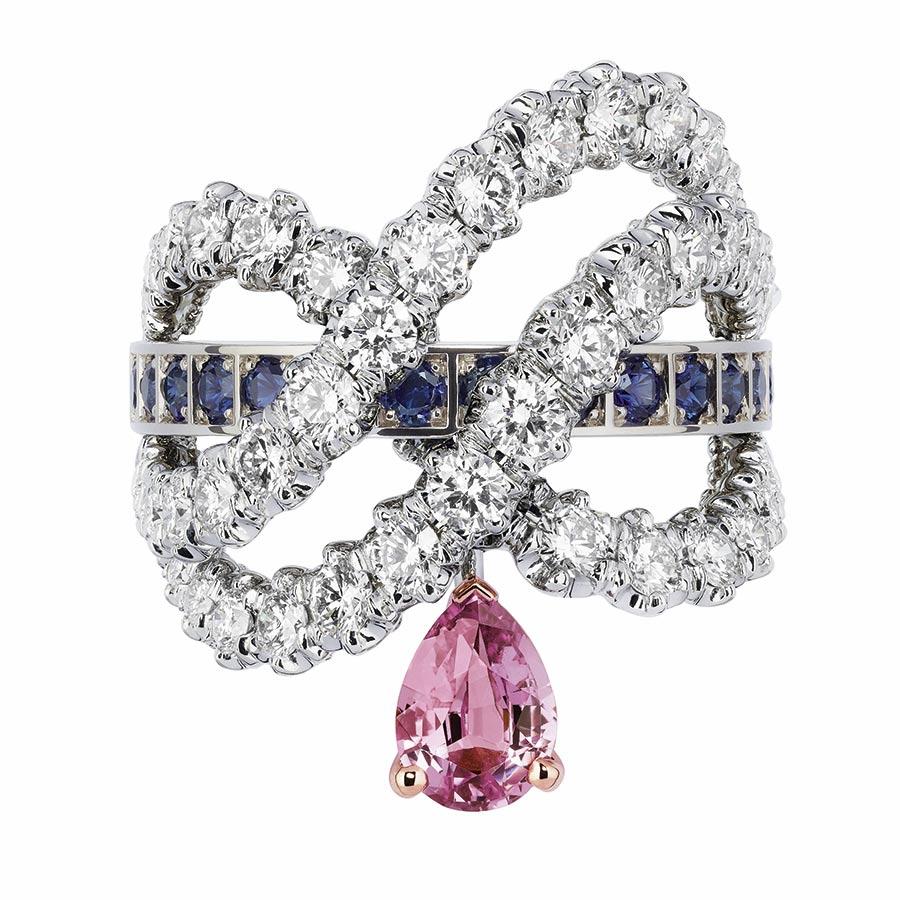 Victoire de Castellane per Dior - GUIRLANDE SAPHIR ROSE RING