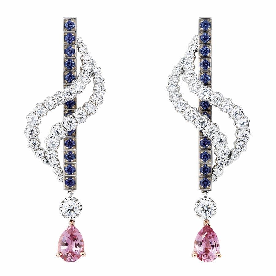 Victoire de Castellane per Dior - GUIRLANDE SAPHIR EARRINGS