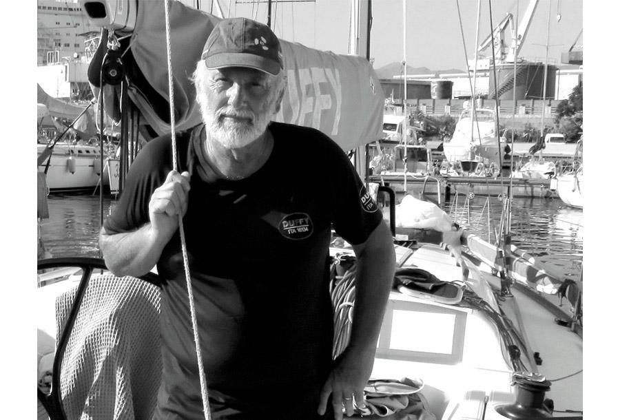 Palermo Montecarlo - la vittoria di Rambler alla regata velica - comandante imbarcazione foto b/n