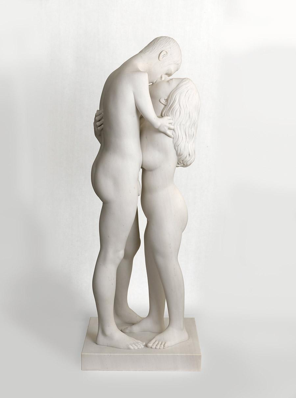 Chiostro del Bramante, esposizione Love, MARC QUINN, scultura, kiss