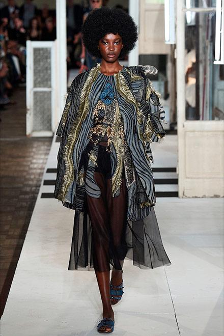 fashion week milano - modella Antonio Marras