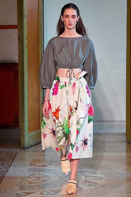 fashion week milano - modella blumarine