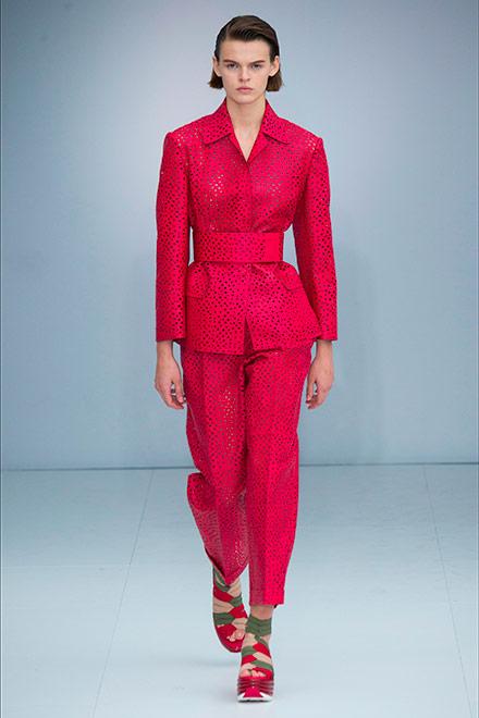 fashion week milano - modella Ferragamo