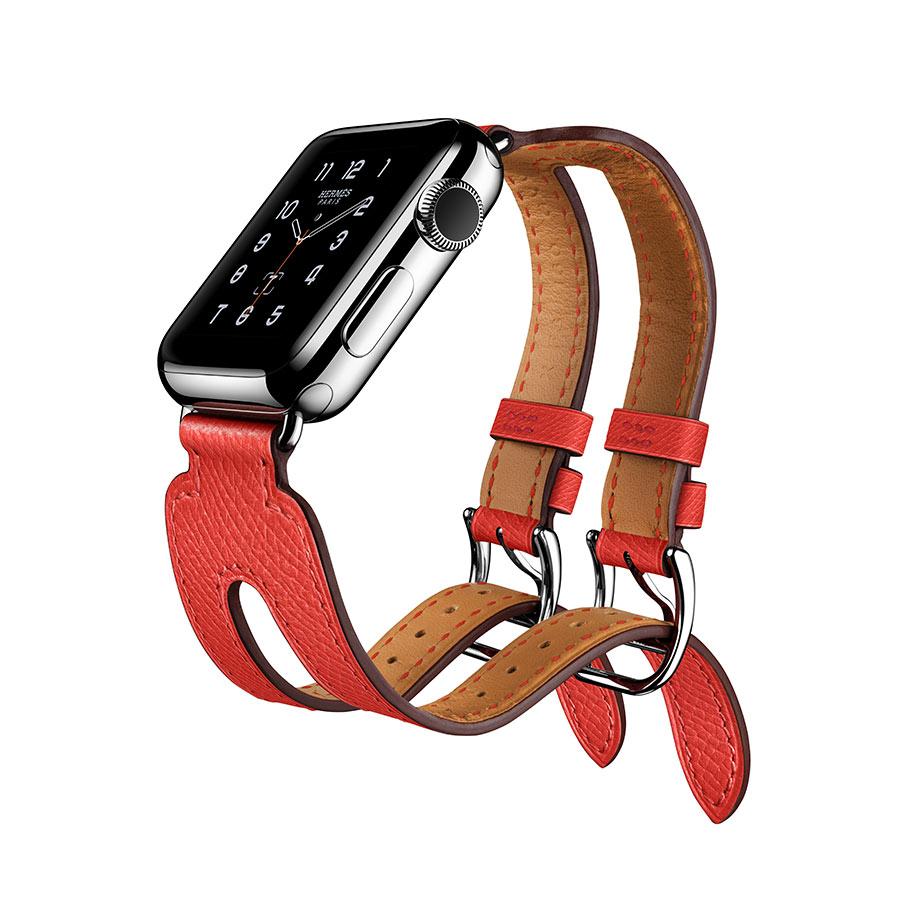 Apple Watch Hermès - Double Buckle Cuff - cinturino Rose Jaipur