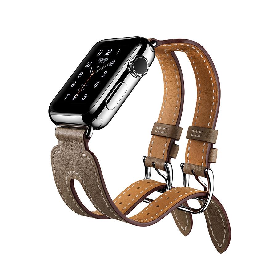 Apple Watch Hermès - Double Buckle Cuff - cinturino Étoupe