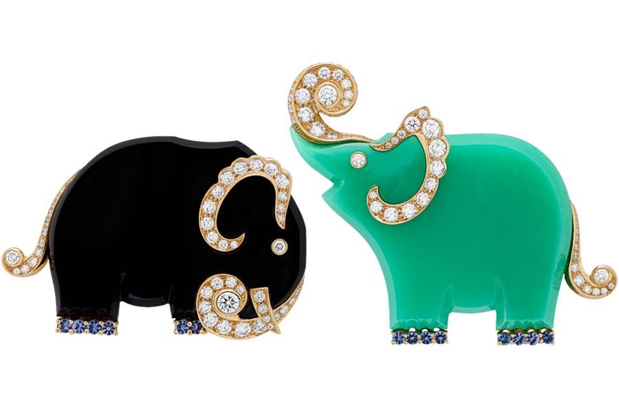 Van Cleef & Arpels - Mostra Parigi - L'Arche de Noé - soggetto Elefanti