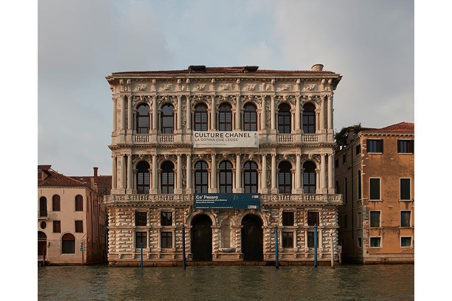 gabrielle chanel - palazzo ca' pesaro a venezia, la facciata