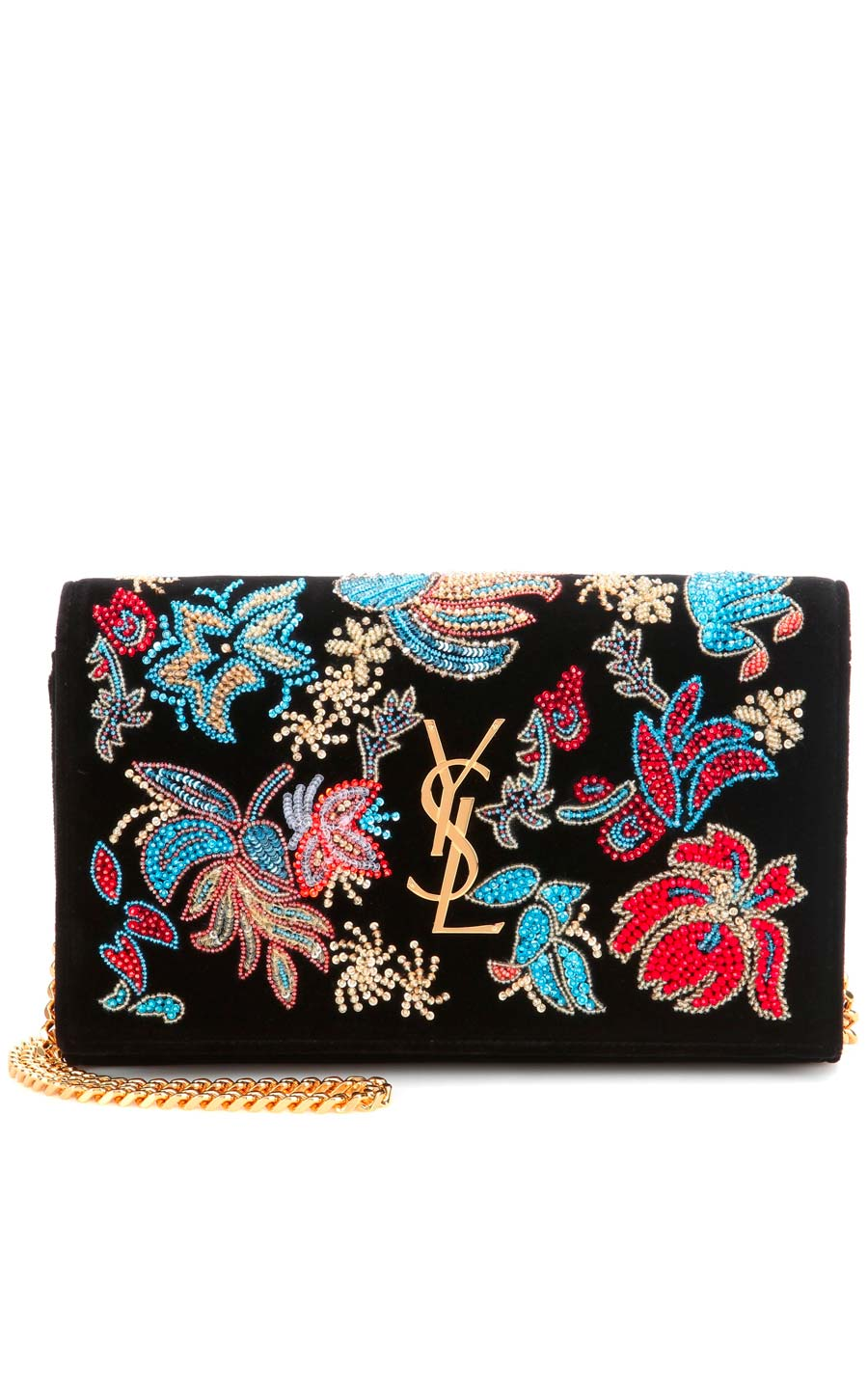velluto - NEW ARRIVAL SAINT LAURENT Classic Medium Kate Monogram embellished velvet shoulder bag