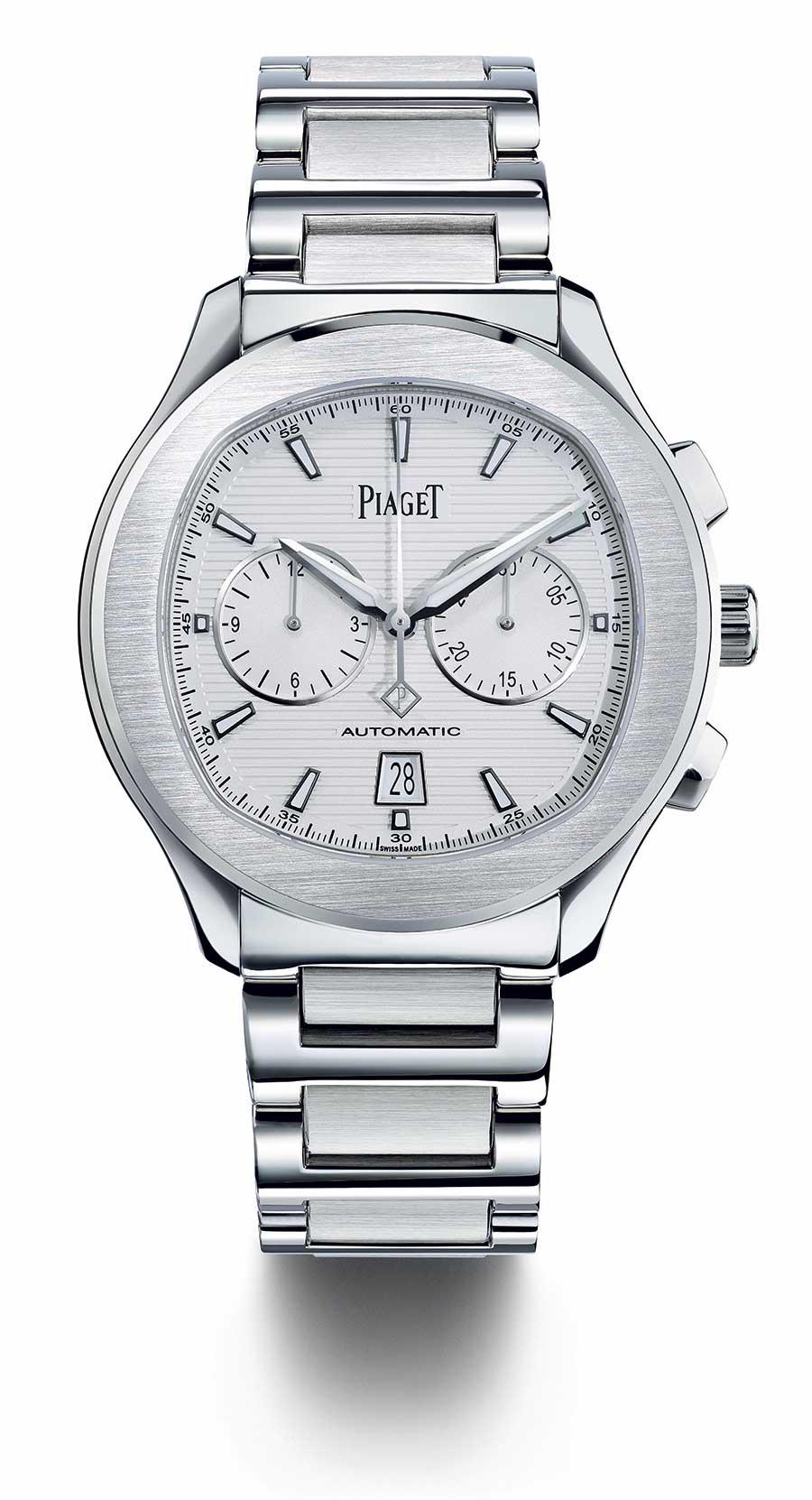 Piaget Polo S cronografo quadrante argentè