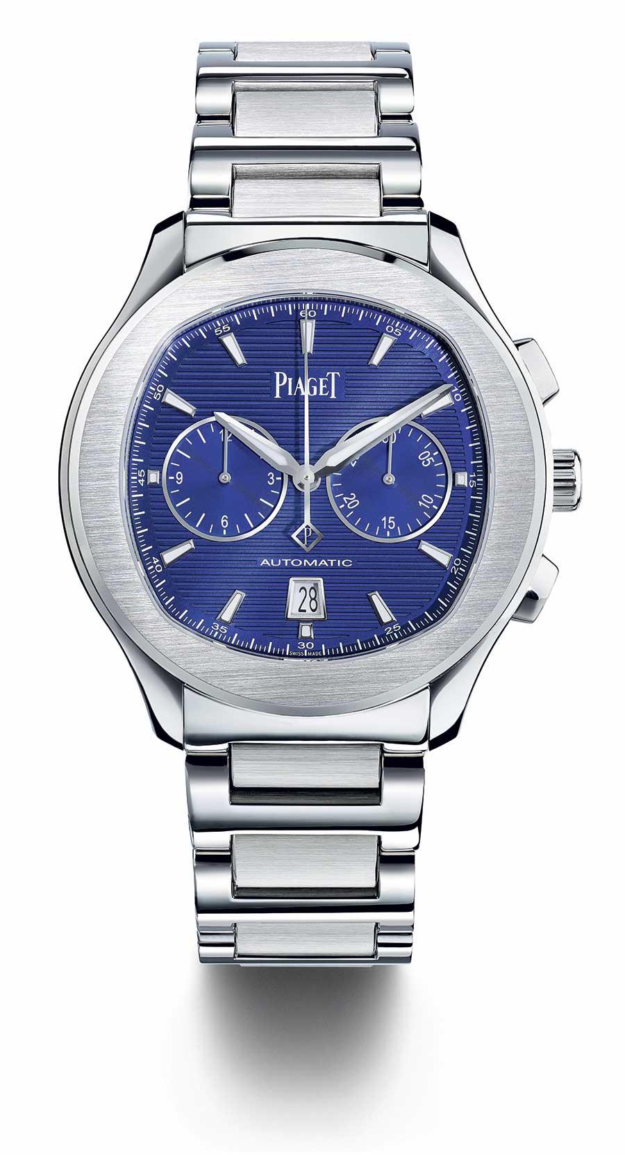 Piaget Polo S cronografo quadrante blu