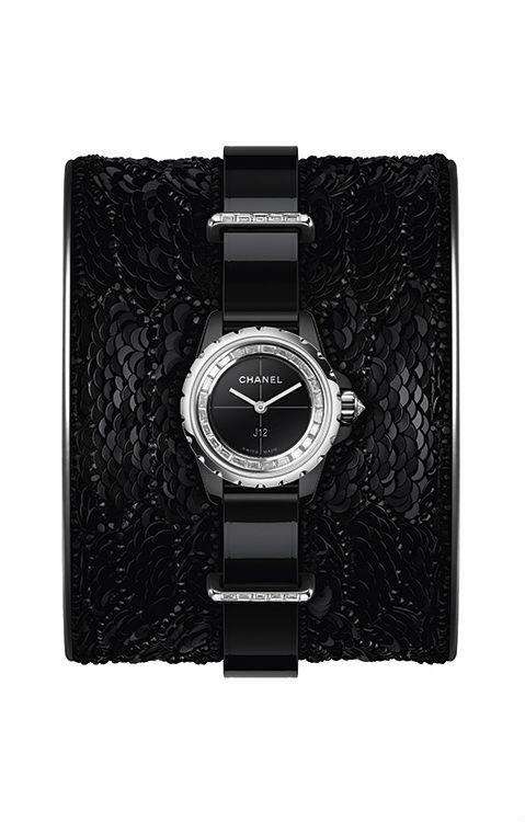 J12 Chanel - J12 XS NERO bracciale paillettes