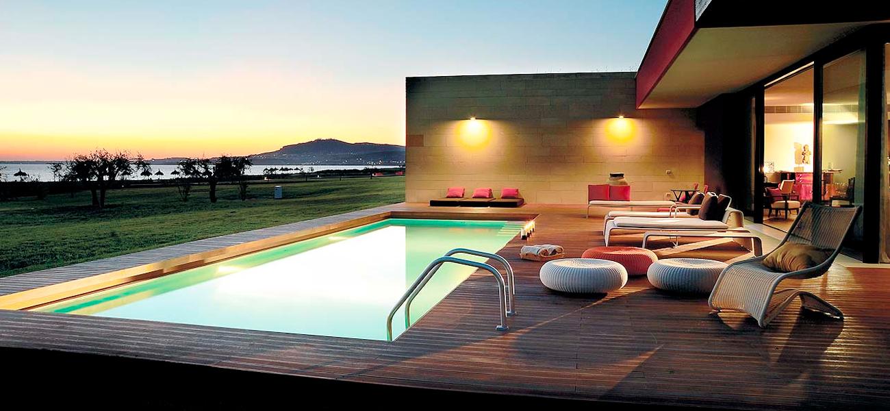 Verdura Resort Sciacca - immagine evocativa serale, tramonto, piscina spa