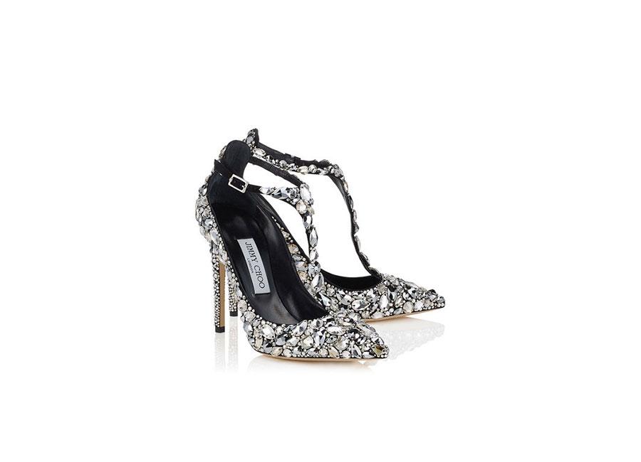 Café Society: scarpa di Jimmy Choo realizzata a mano e ricoperte di cristalli