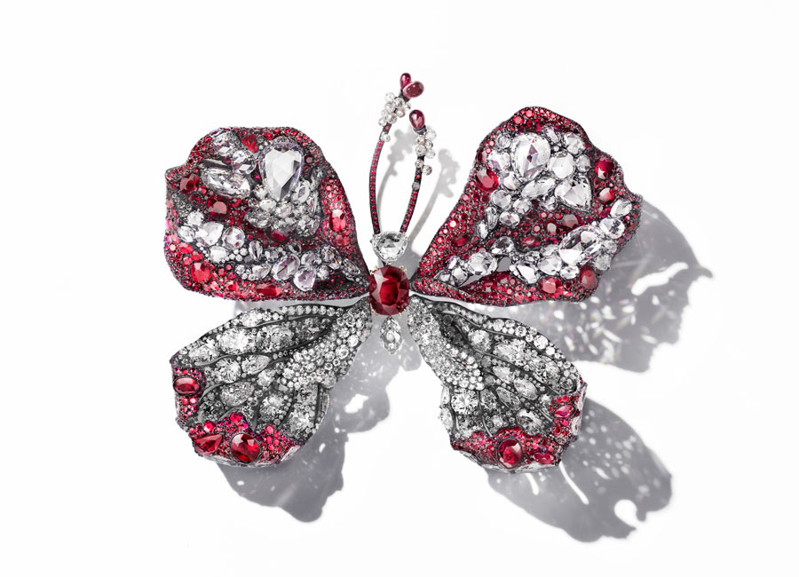 Cindy Chao - The Art Jewel 2015 - Ruby Butterfly davanti