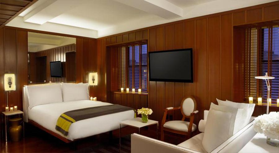 Boutique Hotel Hudson NY, camera vista letto