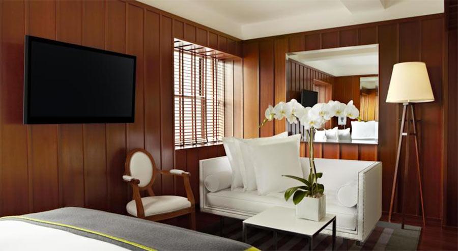 Boutique Hotel Hudson NY, camera vista divanetto
