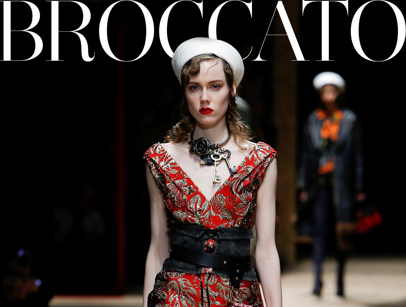 Broccato: simbolo di eleganza per le grandi maison dell'haute couture