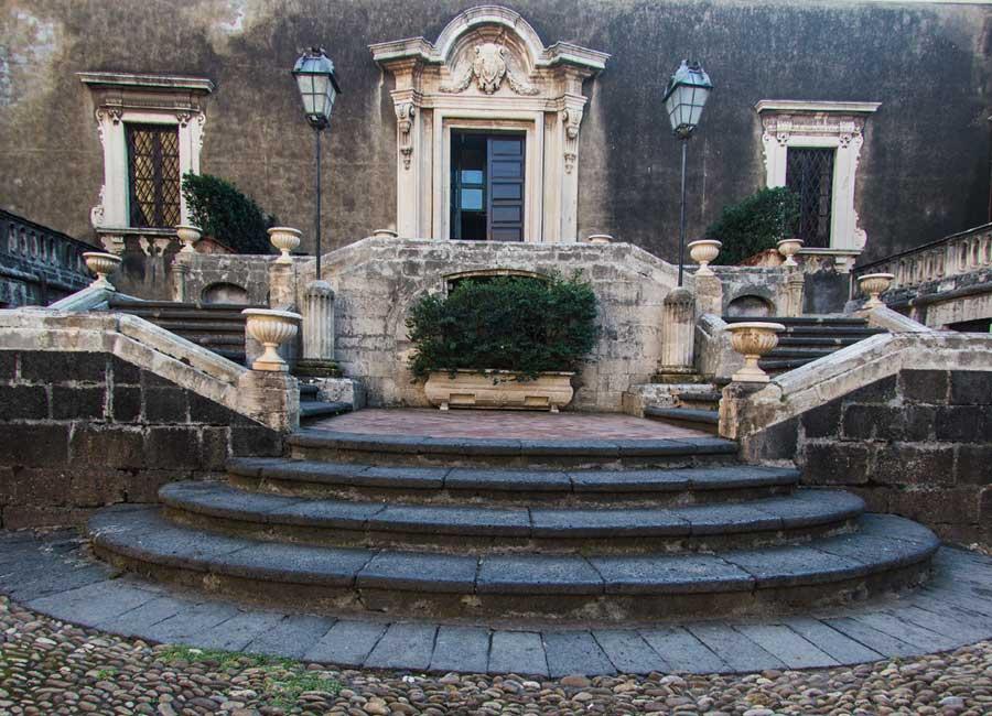 L'esterno di Palazzo Biscari
