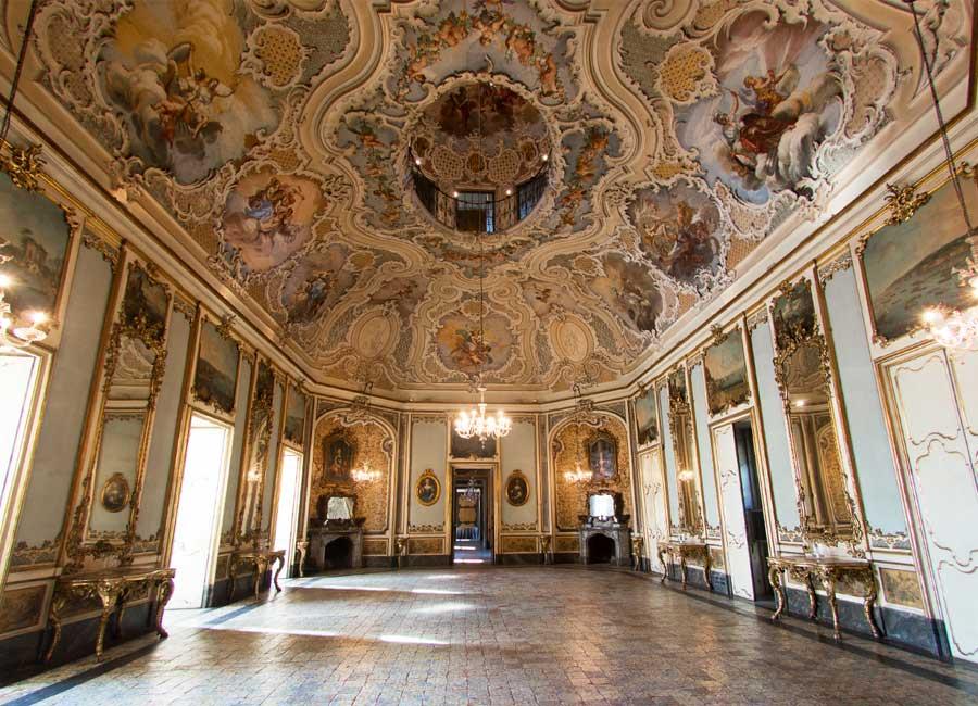 Il salone delle feste di Palazzo Biscari
