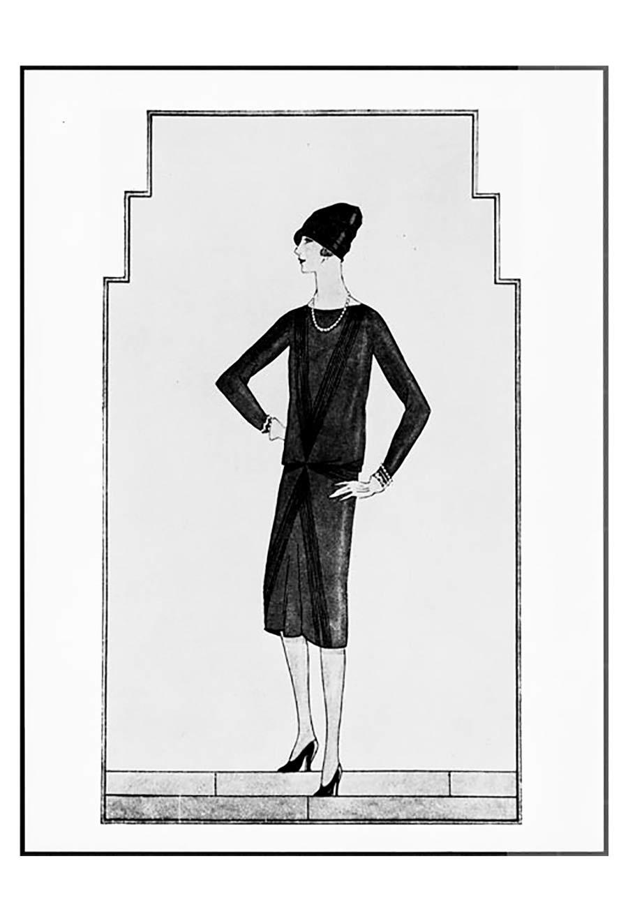 Little Black dress - Chanel stampa d'epoca
