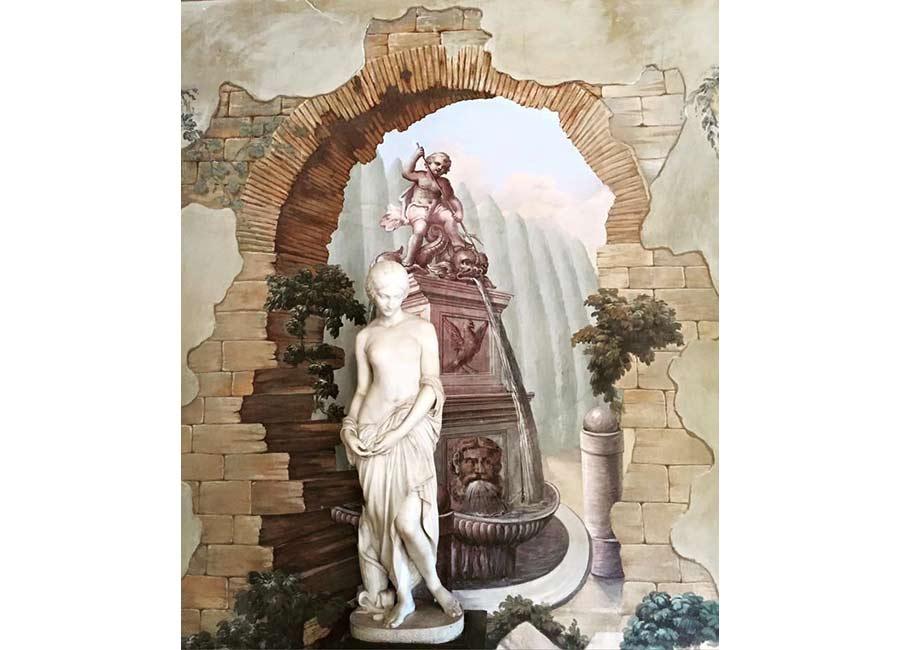 Ville di Lusso: villa tasca, affresco e statua
