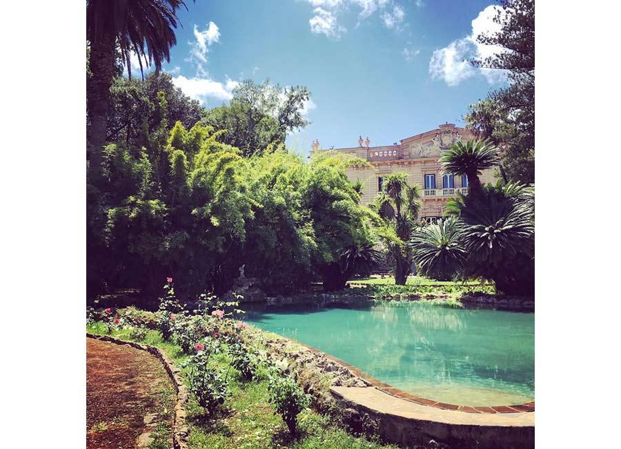 Ville di Lusso: villa tasca, vista dalla passeggiata