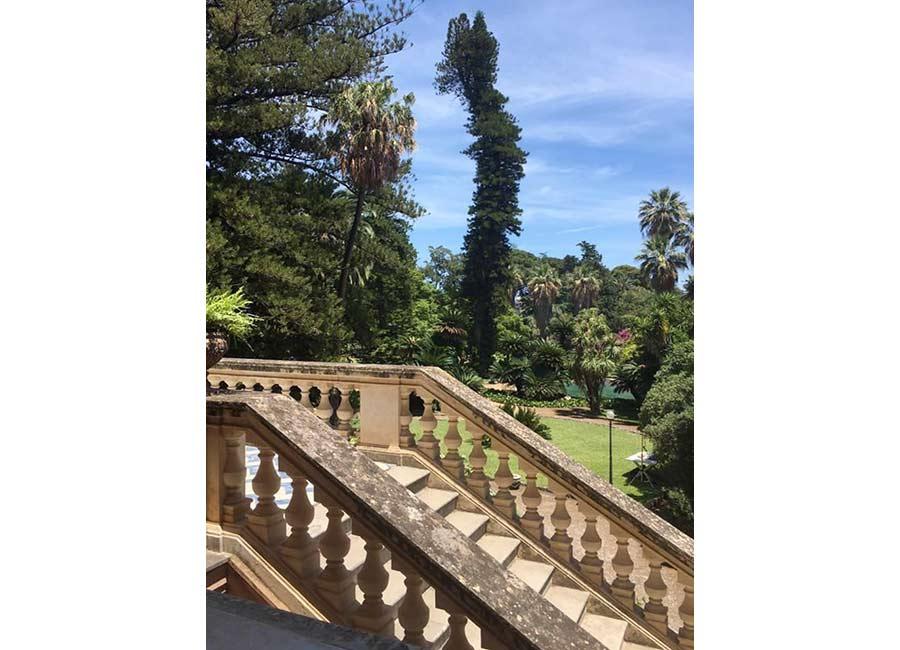 Ville di Lusso: villa tasca, l'antica scalinata dettaglio