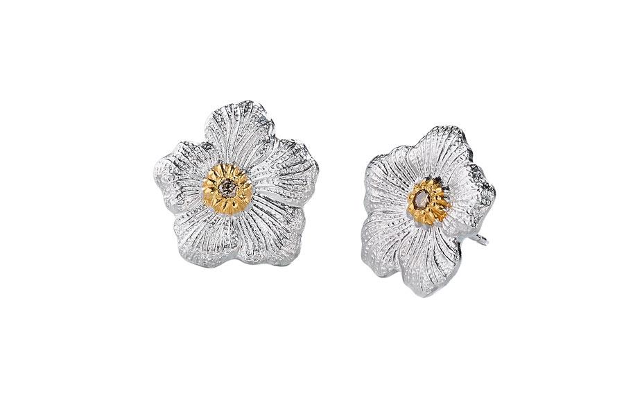 Buccellati - gallery gardenia - orecchini bottone medi V2
