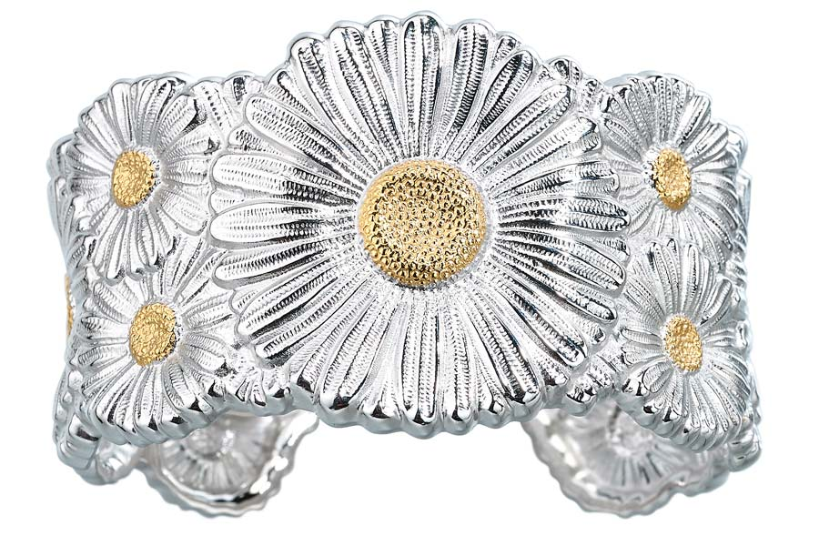 Buccellati - Gallery Margherita - bracciale alto argento vista frontale