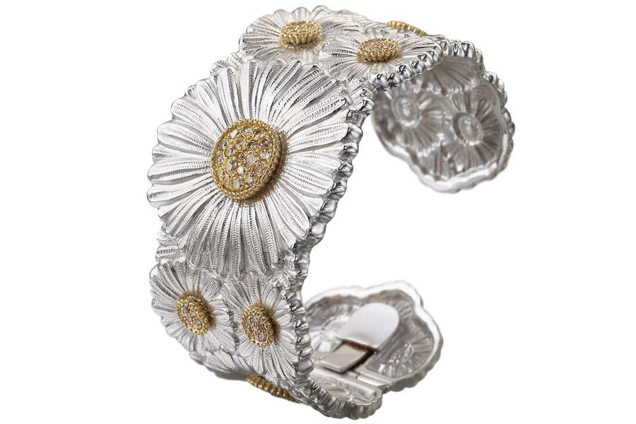 Buccellati - Gallery Margherita - bracciale alto argento diamanti