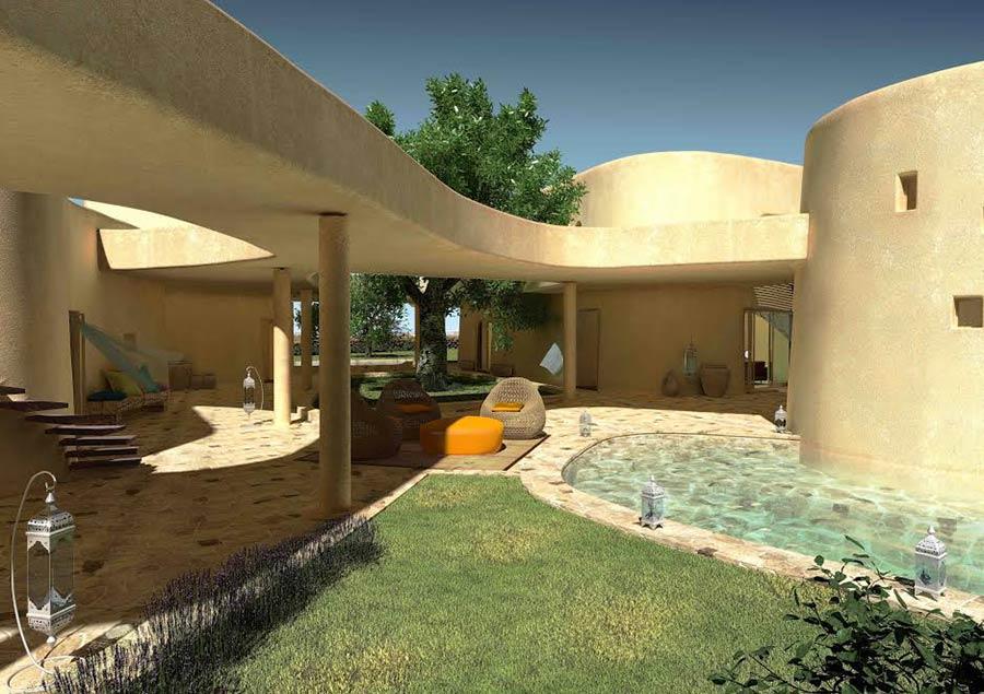 Golf Resort is molas - nuove abitazioni di lusso in Sardegna - porticato e piscina