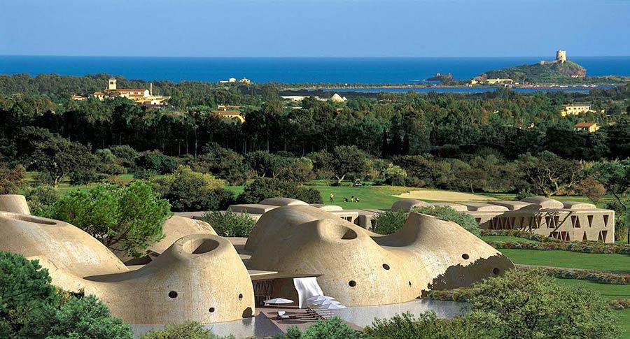 Golf Resort is molas - nuove abitazioni di lusso in Sardegna - rendering villaggio