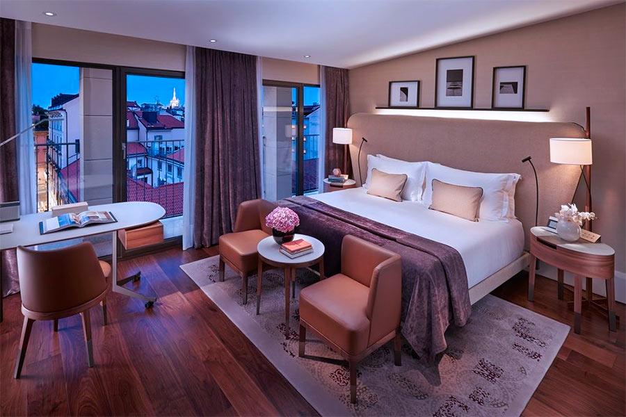 Luxury Hotel Mandarin Oriental Milan - interno camera deluxe