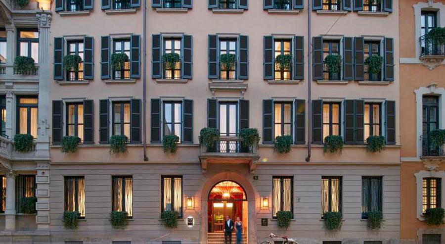 Luxury Hotel Mandarin Oriental Milan - esterno finestre camere palazzo