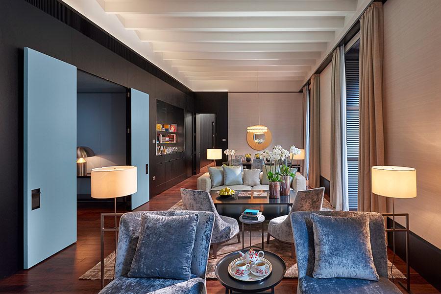 Luxury Hotel Mandarin Oriental Milan - suite presidenziale soggiorno