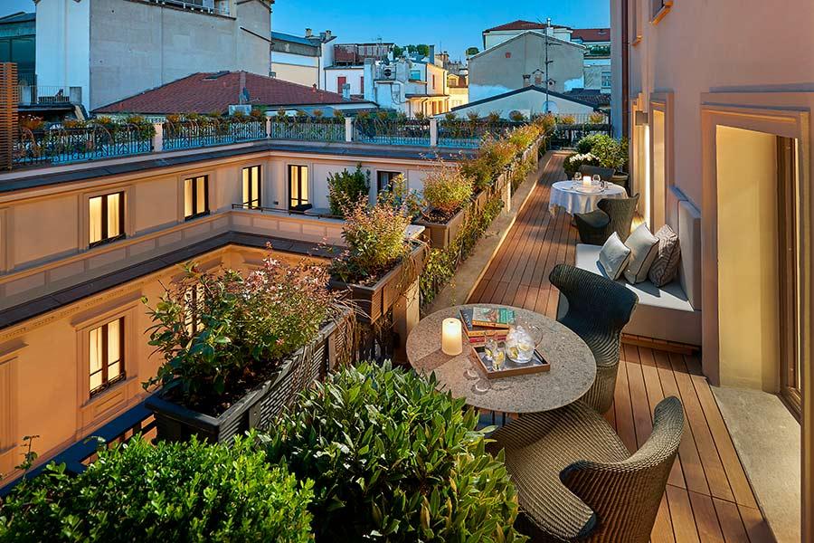 Luxury Hotel Mandarin Oriental Milan - esterno terrazza suite